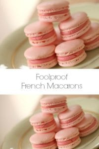 Collage of Pink French Macarons
