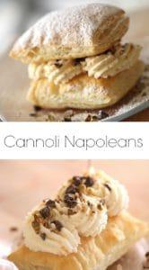 Cannoli Napoleon on plate