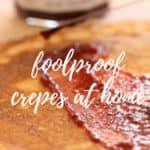 Easy crepe with raspberry jam