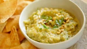 Baba ganoush recipe with homemade pita chips