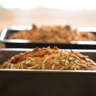 The Best Pumpkin Bread Recipe just baked cooling in the pan on a wire rack
