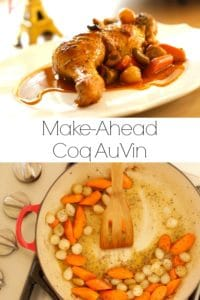 Coq Au Vin Recipe in 2 stages