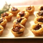 Goat Cheese Tartlets on a white plate