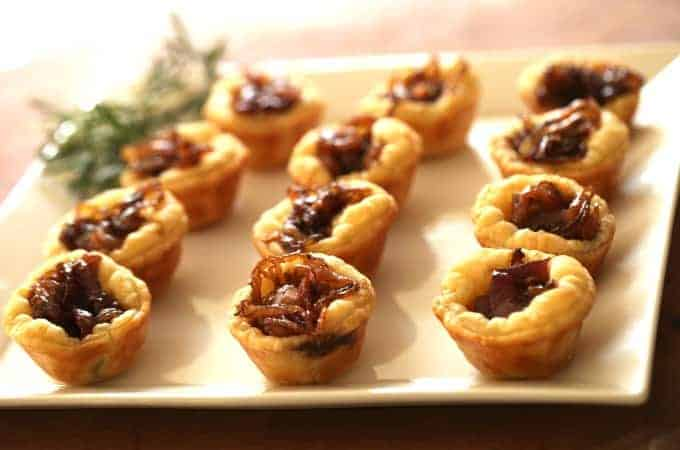 Goat Cheese Tarts with Caramelized Onions