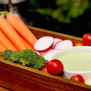 Crudité Platter with Green Goddess Dip