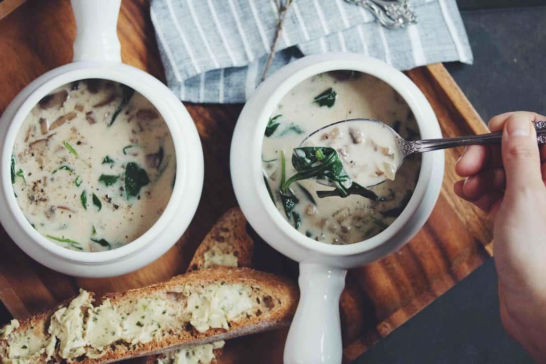 Lauren and John's Cream of Mushroom Soup
