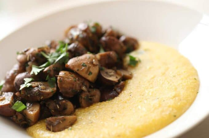 Mushroom Ragout with Polenta-Meatless Monday
