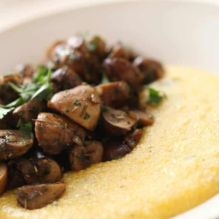 Mushroom Ragout with Polenta