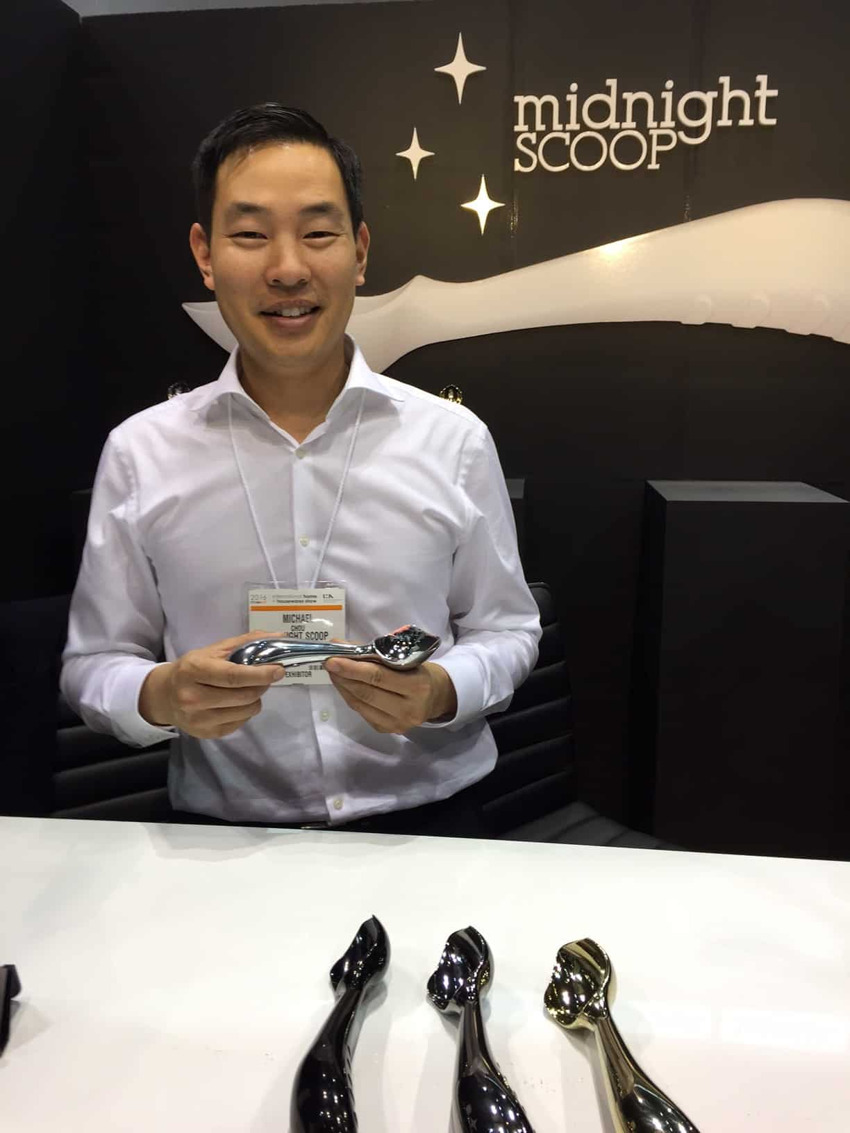 Michael Chou with his Midnight Scoop