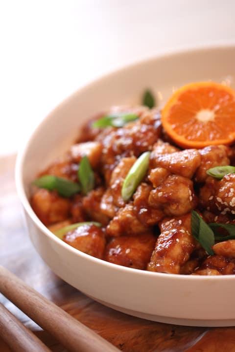 Easy Orange Chicken Recipe. Includes video tutorial