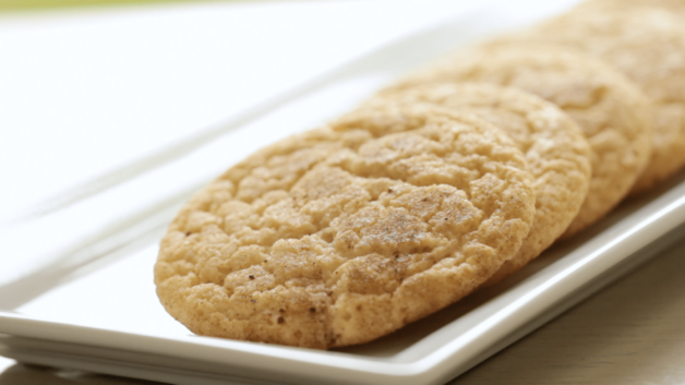 Snickerdoodle Cookie Recipe on a rectangular platter