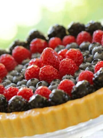 Red, White and Blue Fruit Tart