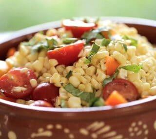 Easy Corn Salad Recipe Great for Summer Entertaining or Potlucks!
