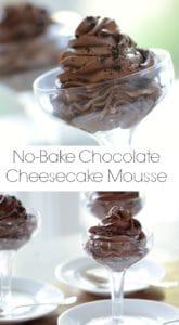 No-Bake Chocolate Cheesecake Mousse
