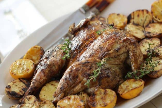 Grilled Lemon Chicken with Rosemary Potatoes