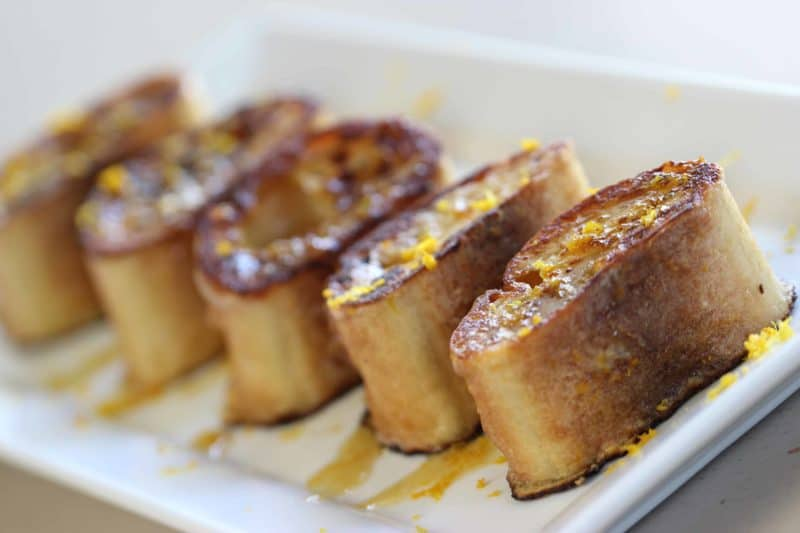 Pain Perdu Recipe served on a white plate