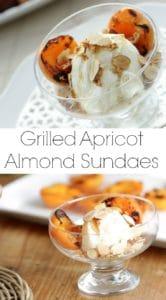 Apricot Almond Sundaes