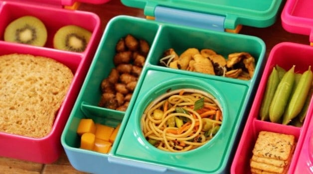 Cold Sesame Noodle Salad with Leftover Spaghetti in Omie Lunchbox