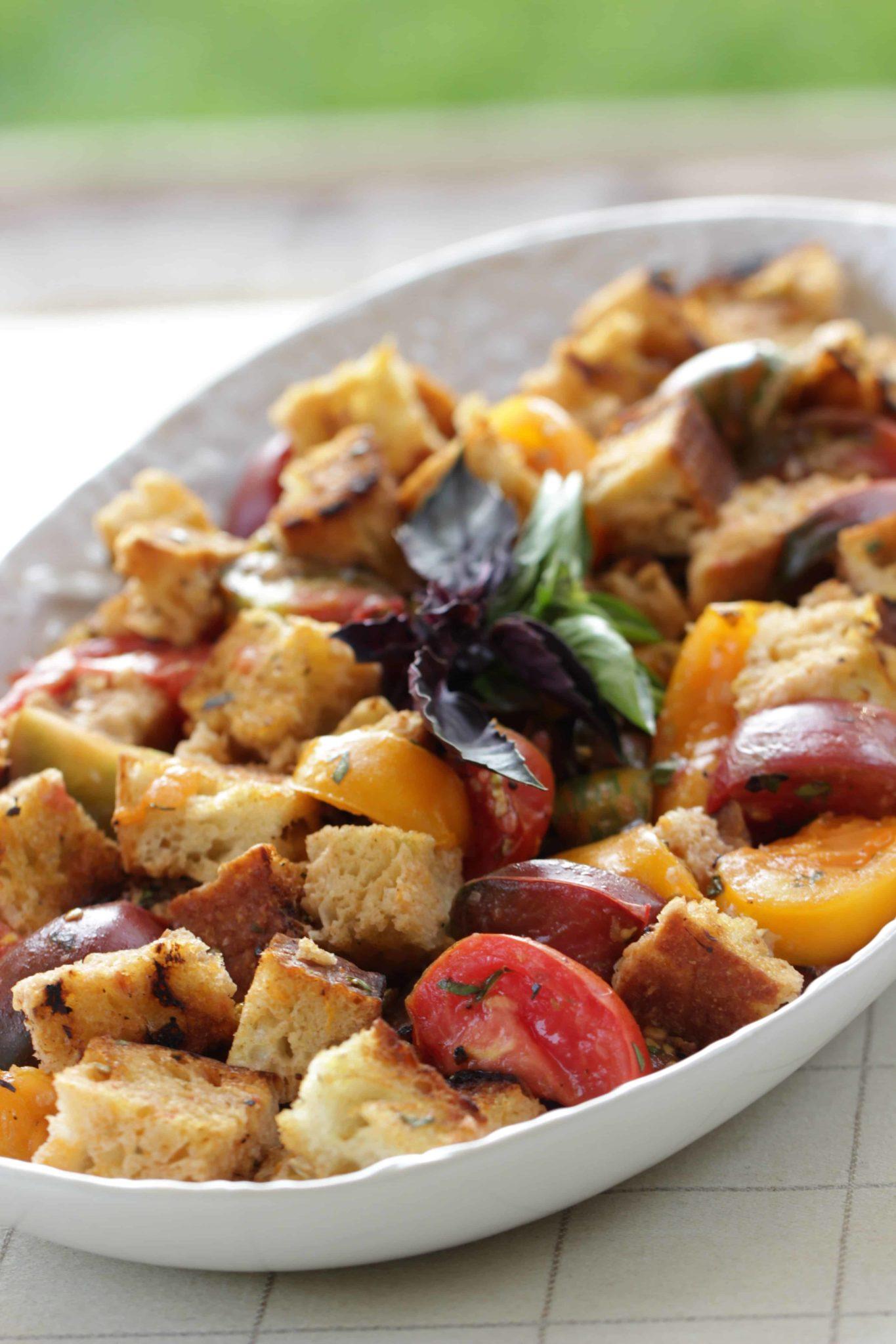 Beth's Grilled Panzanella Salad