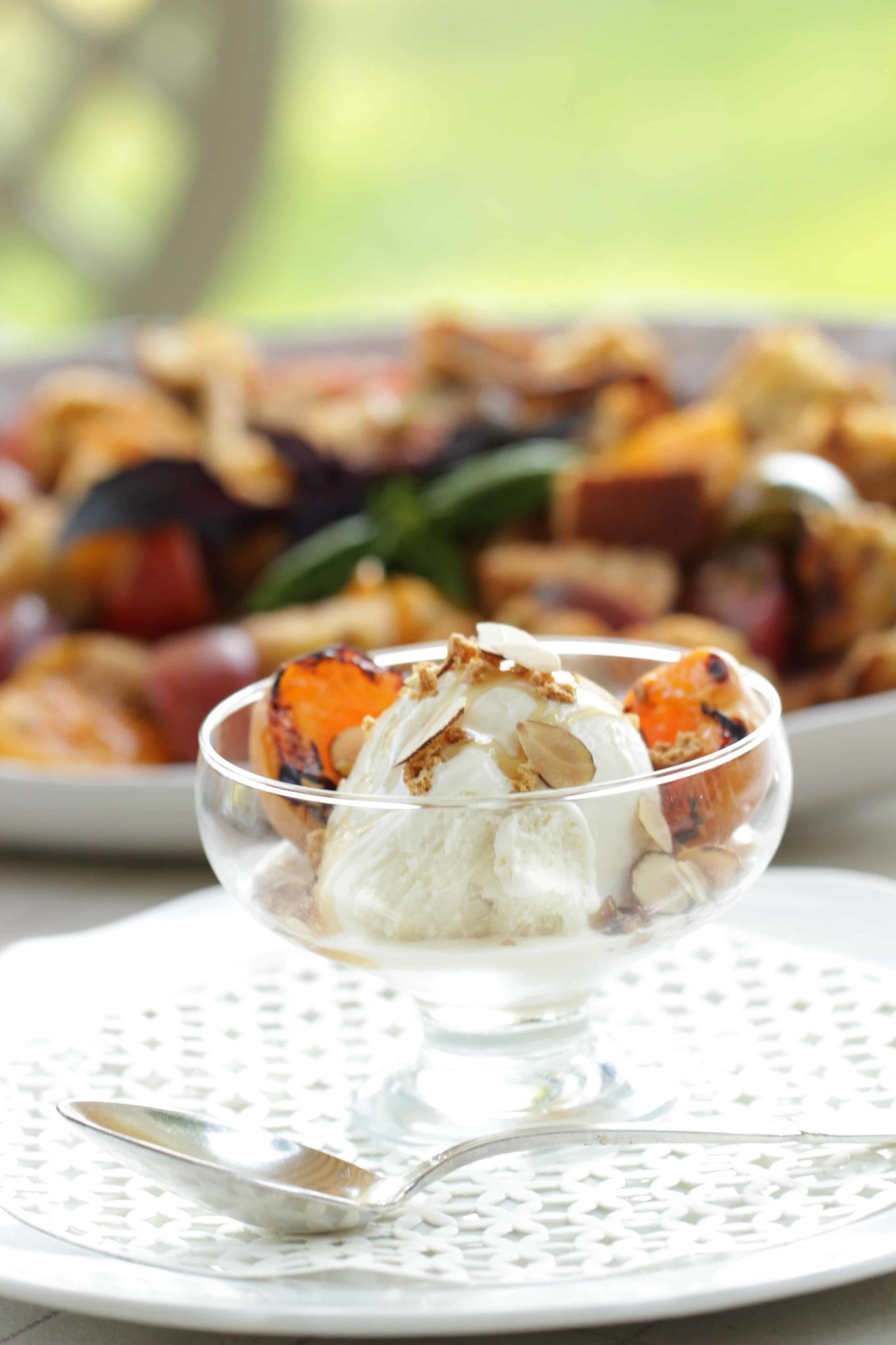 grilled apricot sundaes - Coyote Grills