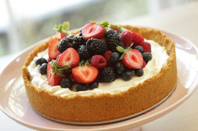 Triple Berry, No-Bake Cheesecake Recipe