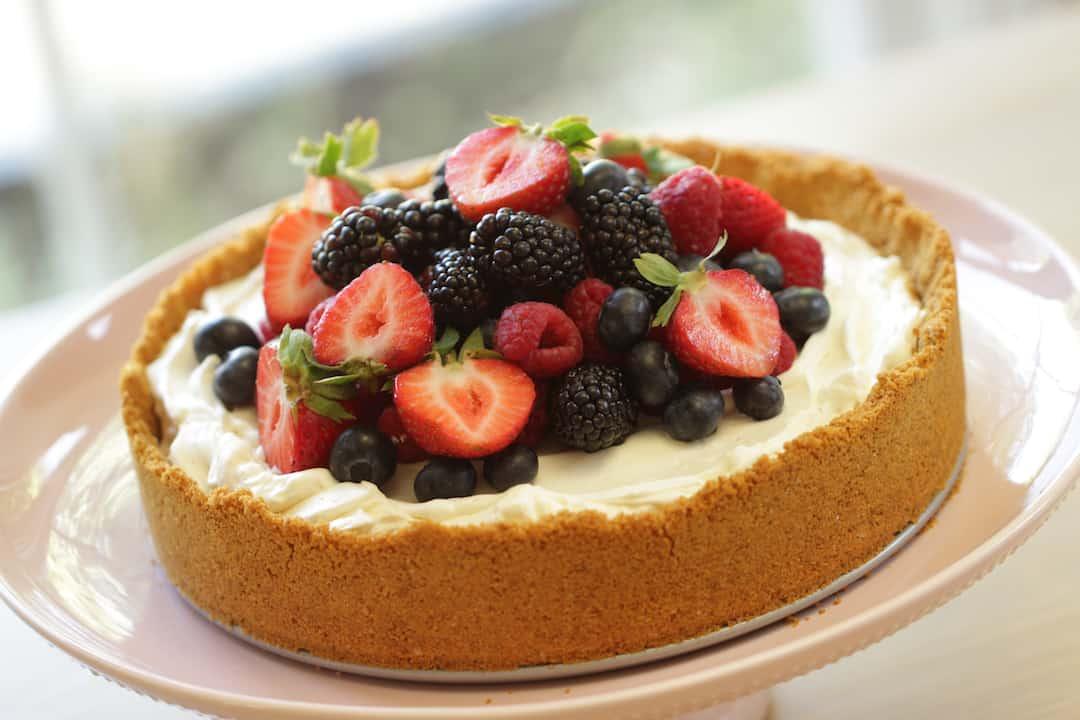 Triple Berry, No-Bake Cheesecake Recipe