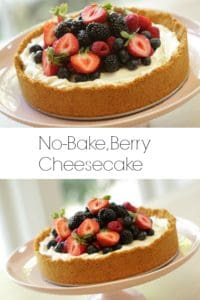Triple Berry, No Bake Cheesecake Recipe