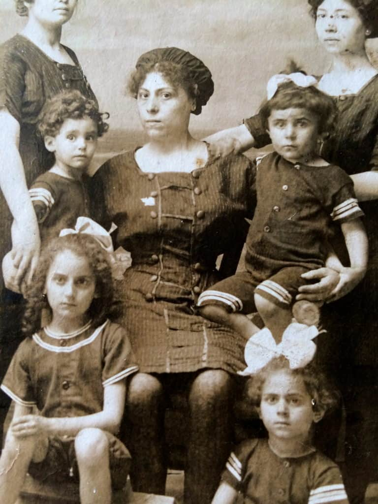 a family portrait of Big Nonna and other Italian Relatives
