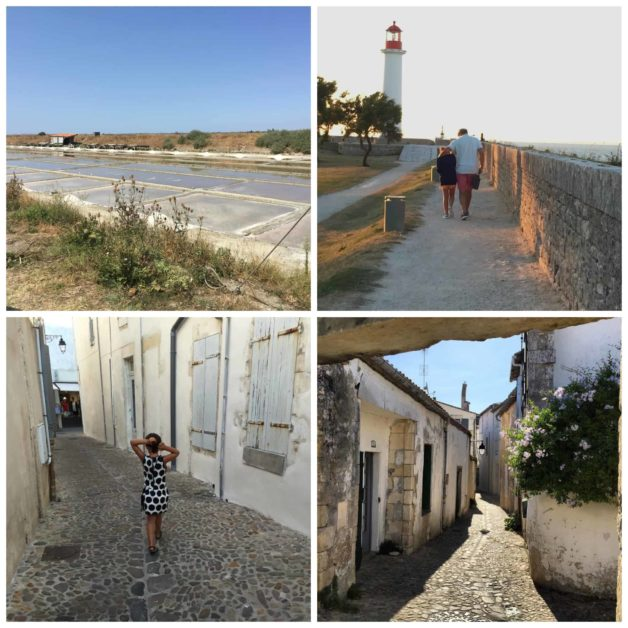 a collage of images from Ile de Re, France