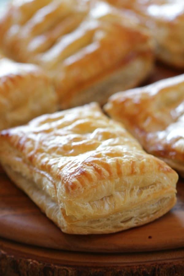 Apple Cinnamon Pastries on a platter vertical orientation