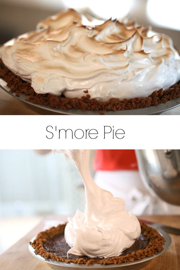 Collage of a S'more Pie Recipe