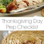 Thanksgiving Day Prep List