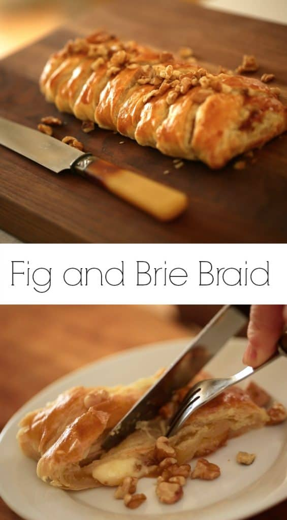 Fig and Brie Braid with Puff Pastry