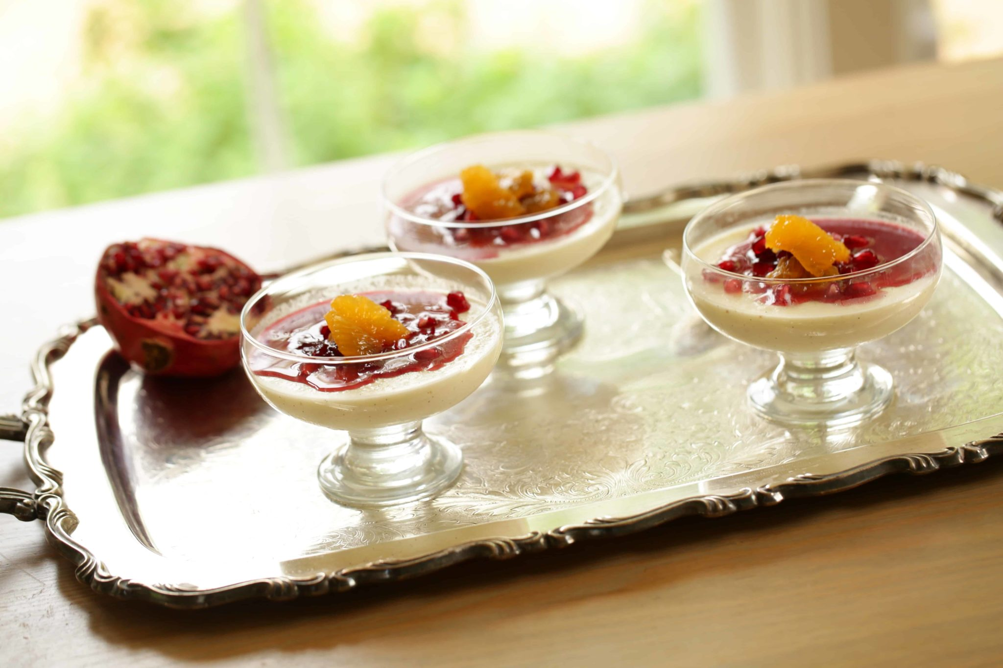 Panna Cotta Recipe with Cranberry Compote