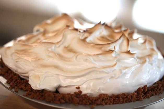 S'more Pie Recipe just baked and out of oven