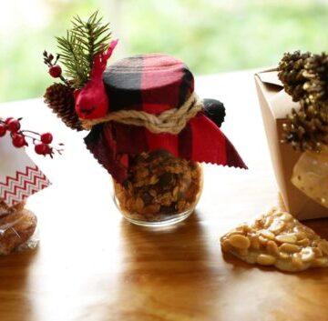 3 DIY Food Gift Ideas on wooden board