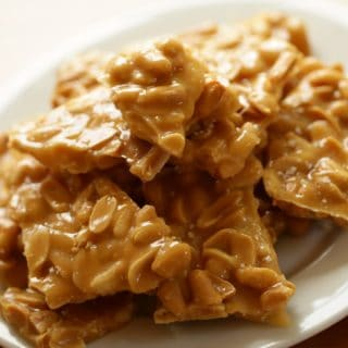 Peanut Brittle on a Plate