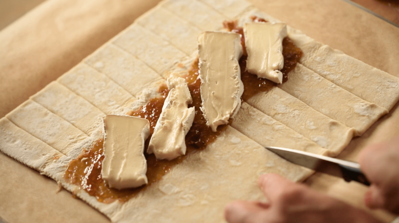 Brie and fig jam for 3 Puff Pastry Appetizer Ideas