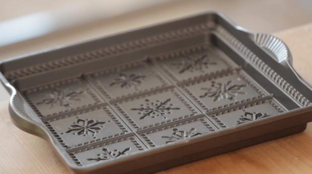 Snowflake Shortbread pan from Nordicware for a Holiday Shortbread Recipe