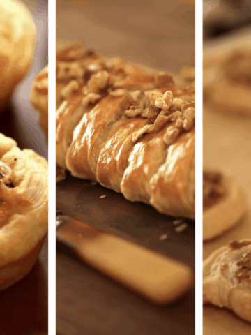 Collage of 3 Puff Pastry Appetizers
