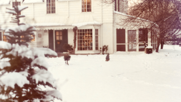 Ruggiero Family Home in the Snow in 1973