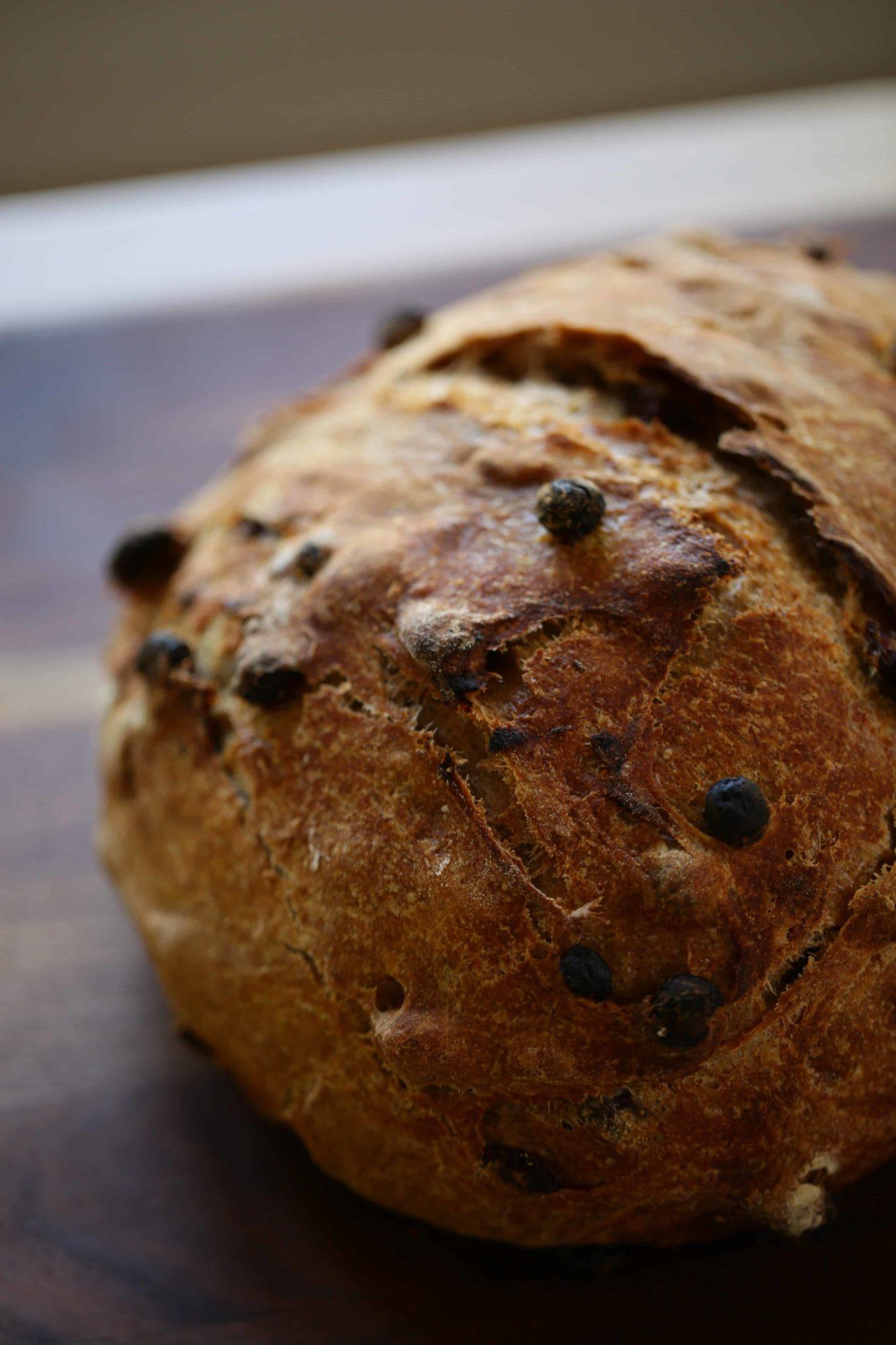 No Knead Cinnamon Raisin Bread