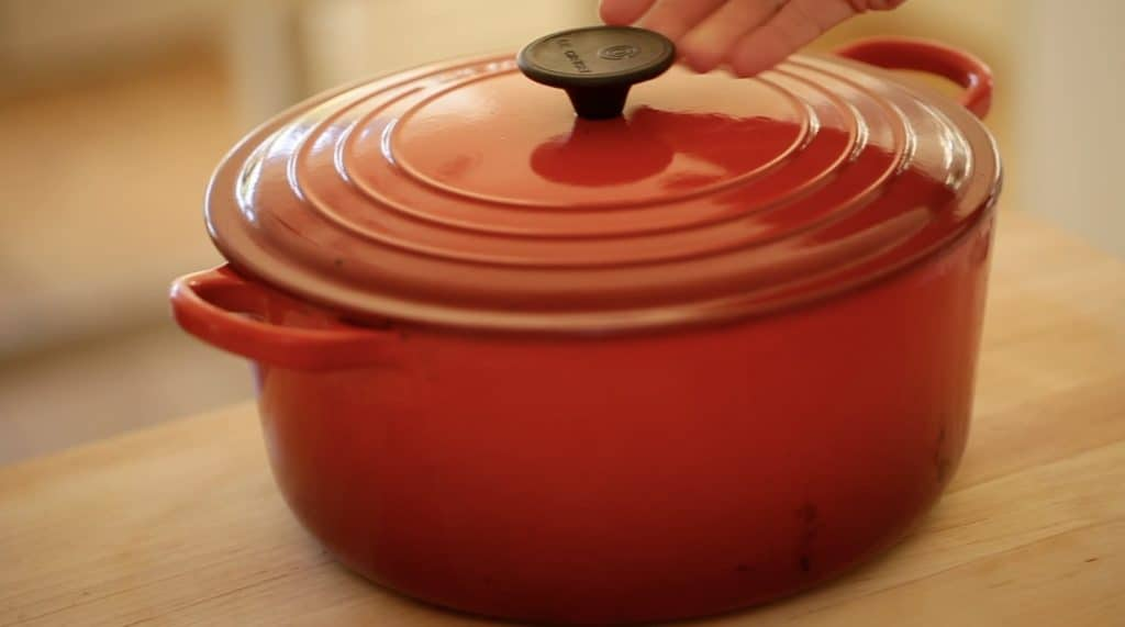 Le Creuset Dutch Oven in Red