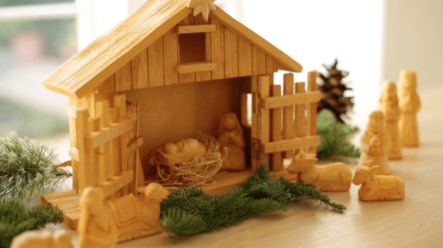 Nativity Scene made from wood