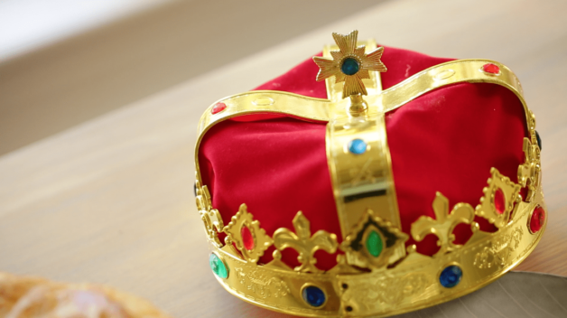 Red Crown with jewels for a Galette des Rois Recipe