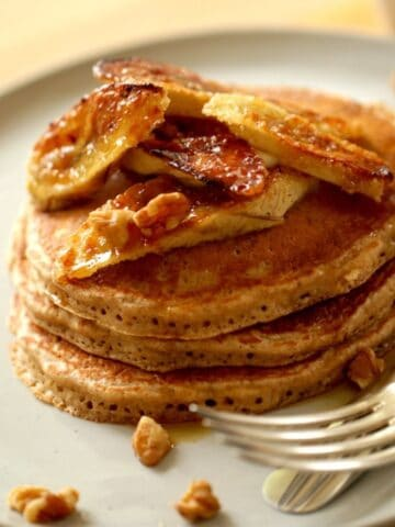 Banana Pancakes with Bruleed Bananas