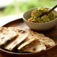 Veggie Quesadilla Recipe and Chunky Guacamole