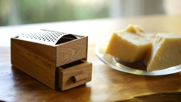Cheese Grater made from Oak wood. 1 of 15 gifts for foodies