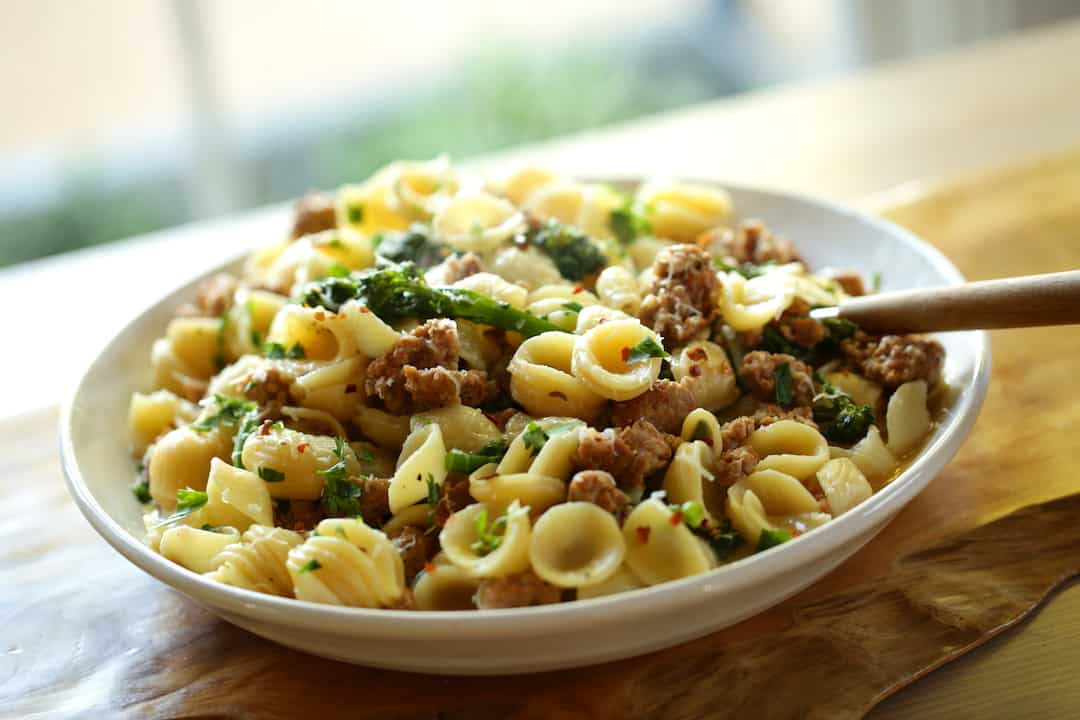 Orecchiette Pasta with Sausage and Baby Broccoli