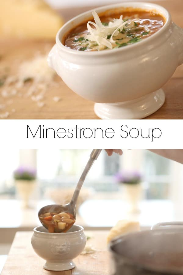 Collage of Minestrone Soup Images